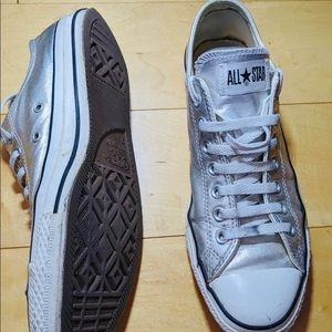 Converse Shoes - Converse silver men's size 9 women's size 11